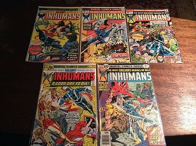 Marvel Inhumans Comic Lot Issues 1, 2, 3, 4, 6 Television Show Coming to ABC