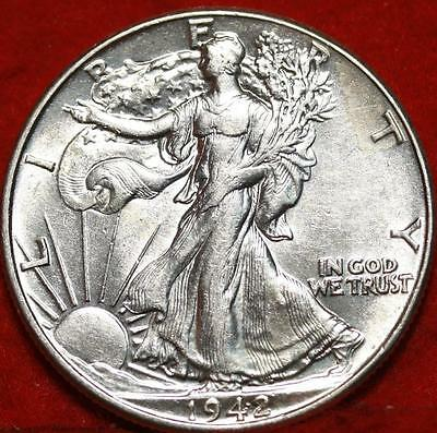 Uncirculated 1942 Philadelphia Mint Silver Walking Liberty Half Free S/H