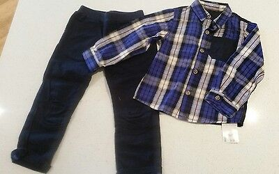 MOTHERCARE Boys Baby Toddler Long sleeve and Pants set SIZE 18-24 Months 2