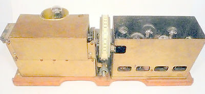 vintage * SPARTON EQUISONNE RADIO:  untested  CHASSIS w/ ALL 7  TUBES