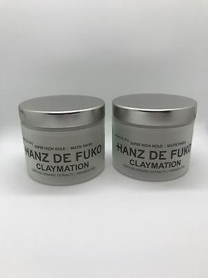 2 X Hanz De Fuko Claymation 2 oz