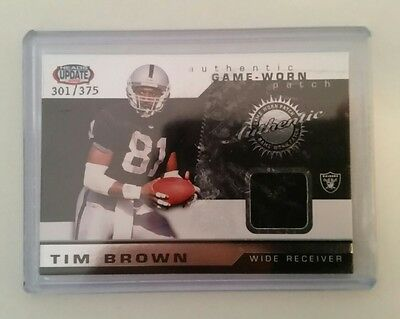 2002 heads update nfl tim brown patch #301/375