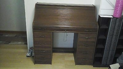 Solid Roll Top Timber Desk