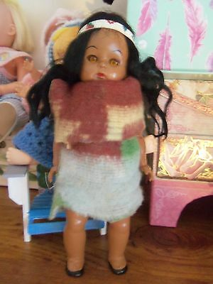 """1960's 8"""" Pal for Willadean and Ginny Hard Plastic Doll Virga"""