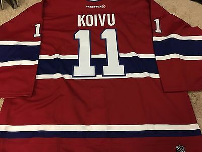 SAKU KOIVU Signed Montreal Canadiens Game Authentic PRO NEW Hockey Jersey