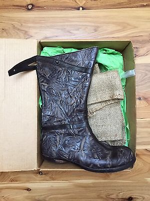 CYDWOQ Surgeon hand made in the USA textured leather boots, size 40