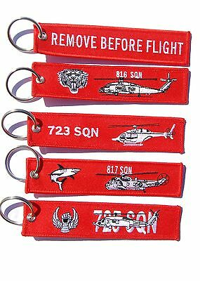 RAN Fleet Air Arm Remove Before Flight Key Ring Luggage Tag Value Pack