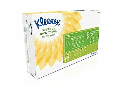 KLEENEX Airflex Slimfold Hand Towel Dispenser Starter Pack (7996) Boxed New