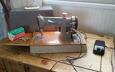 Heavy Duty Singer 185K Electric Sewing Machine ~  sews Leather,