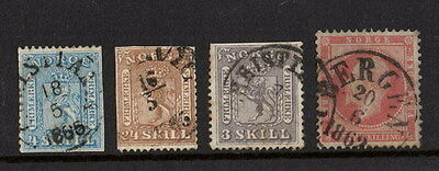 Stamps Norway selection earlies in mixed condition.
