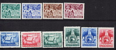 Stamps Indonesia selection sets from !955/56 mint lightly hinged