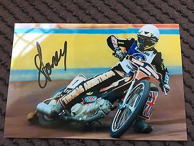 Carl Stonehewer Signed Speedway Photo