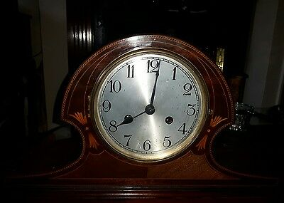 beautiful large chiming  antique mantel clock