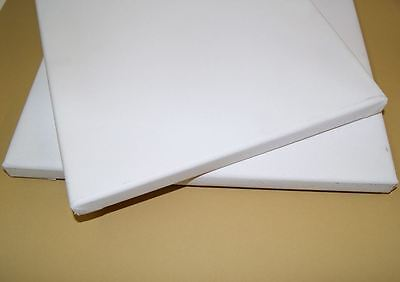 NEW 22 x 22 inch Blank Primed Cotton Canvas 18mm Deep  Pack of THREE