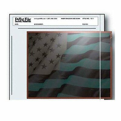"Print File Negative Pages Holds One 4"" X 5"" Sleeved Negative or Transparency, of"