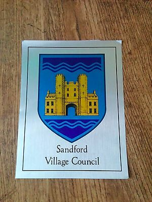 Movie prop (genuine) from Hot Fuzz - Sandford Village Council sign