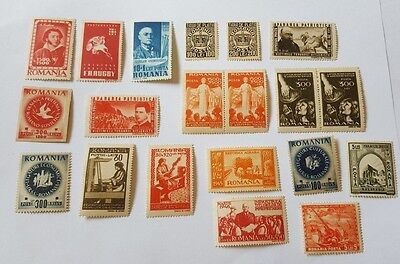 lot romania old mnh stamps