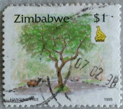 118.zimbabwe 1995 ($1) Used Stamp Hanging Tree