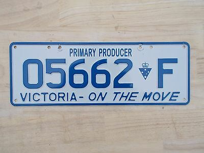 License plate Number plate VIC PRIMARY PRODUCER