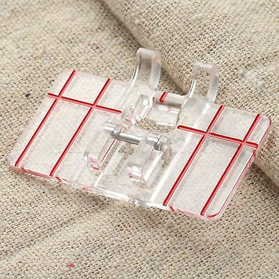 Transparent Parallel Presser Foot Feet for Domestic Sewing Machine Brother Juki