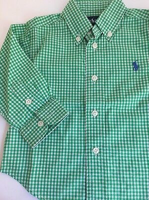 Boys Ralph Lauren Checked Shirt 12 Months 1 Year New No Tags
