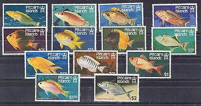 Pitcairn Is 1984 Fishes set of 13 MNH
