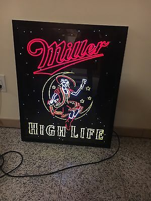 Miller High Life Neo-neon Simulated Backlit Light Box Sig