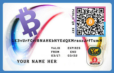 Bitcoins (0,01 BTC) 42 €  Direct To Your Wallet+ Plastic Wallet personal