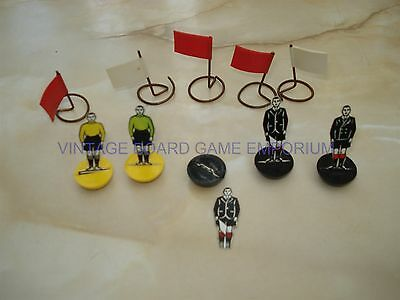 Subbuteo Celluloid Pieces - Referee - Goalkeeper's - Flags - Subbuteo Spares