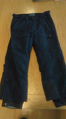 ski pants black kids size 8