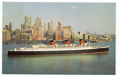 Vintage Postcard - RMS Queen Mary. Cunard Line