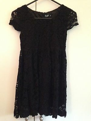 Bardot girls black lace dress size 8