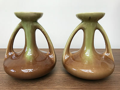 Pair of Art Noveau A G De Bruyn vases