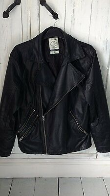 Mens real leather jacket BNWOT size large