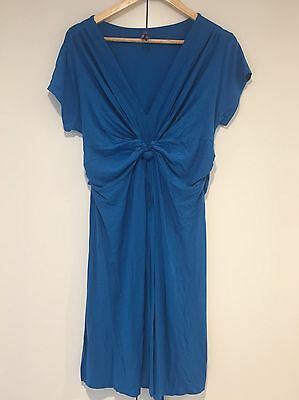 Seraphine Maternity Turquoise  Knot Dress sz UK 16 washed but never worn.
