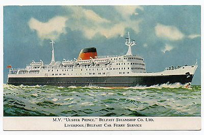 Vintage Postcard. MV Ulster Prince. Belfast Steamship Co Ltd
