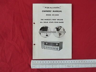 VINTAGE 1960s REALISTIC MANUAL FOR MODEL DX-150B FOUR BAND SHORT WAVE RECEIVER