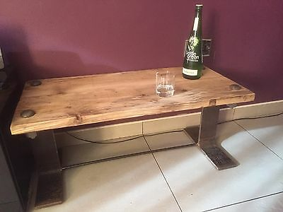 Industrial Style Furniture Upcycled Steel And Wood Coffee Table