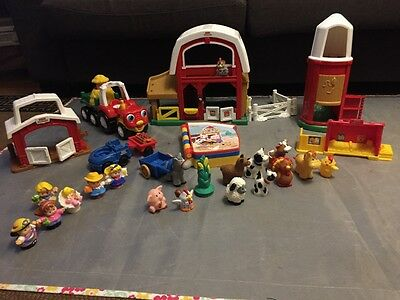 fisher price little people farm animals barn farmers tractor toys children
