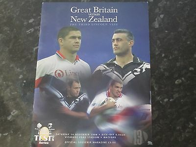 Great Britain v New Zealand 3rd Lincoln Test Programme @ Vicarage Road - 1998