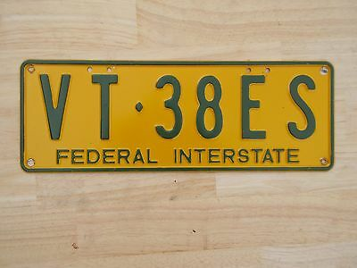 License plate Number plate VIC FEDERAL INTERSTATE TRAILER