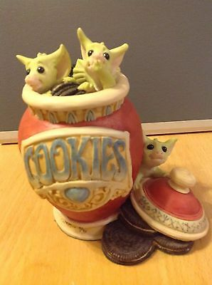 Pocket Dragon   ' RAIDING THE COOKIE JAR ' -  LIMITED EDITION  -   SIGNED PIECE