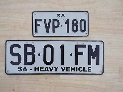 License plate Number plate S/AUST  TRUCK AND MOTORCYCLE