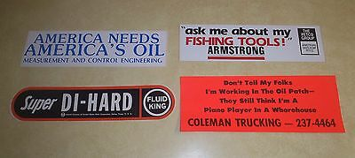 """Vintage Oilfield Bumper  Stickers  From Early  80""""s"""