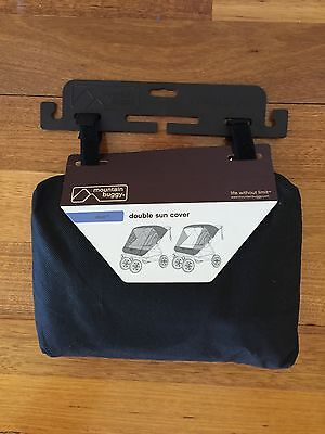 Mountain Buggy Duo Sun Cover - Black - BRAND NEW!