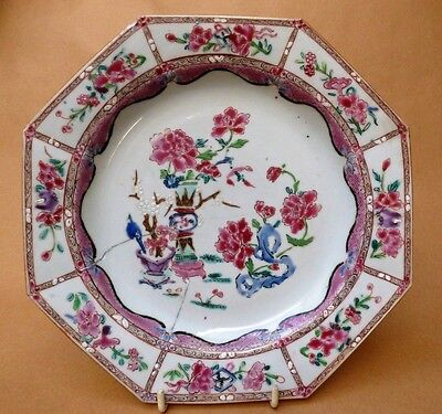 18th Century Chinese Octagonal Plate