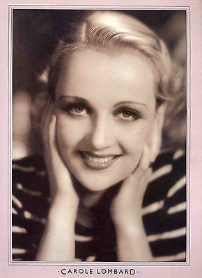 Carole Lombard Poster . Film Movie Actress . Twentieth Century .not Dvd