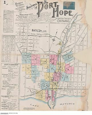PORT HOPE ONTARIO 18 Different  Street &  Building Maps  1901 & 1904