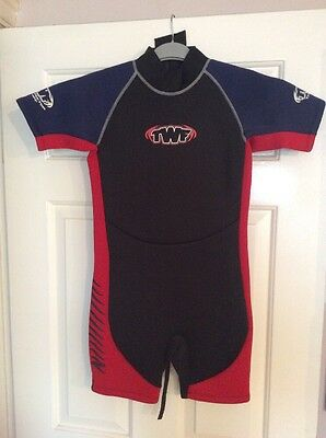 TWF Ladies Shortie Wetsuit Wet Suit Neoprene Size 6