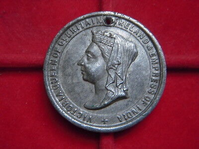 1897 Medallion To Commemorate  Queen Victorias 60 Years Of Reign